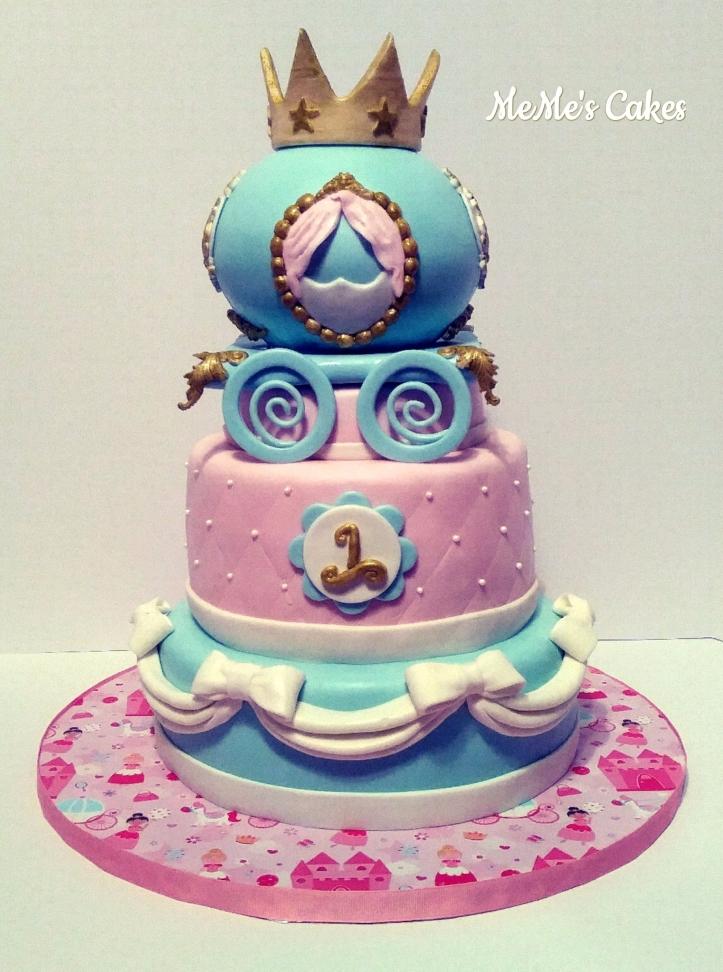 3 tiered princess themed cake