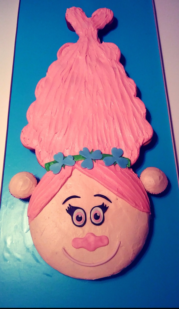 Pull-apart Princess Poppy cake.