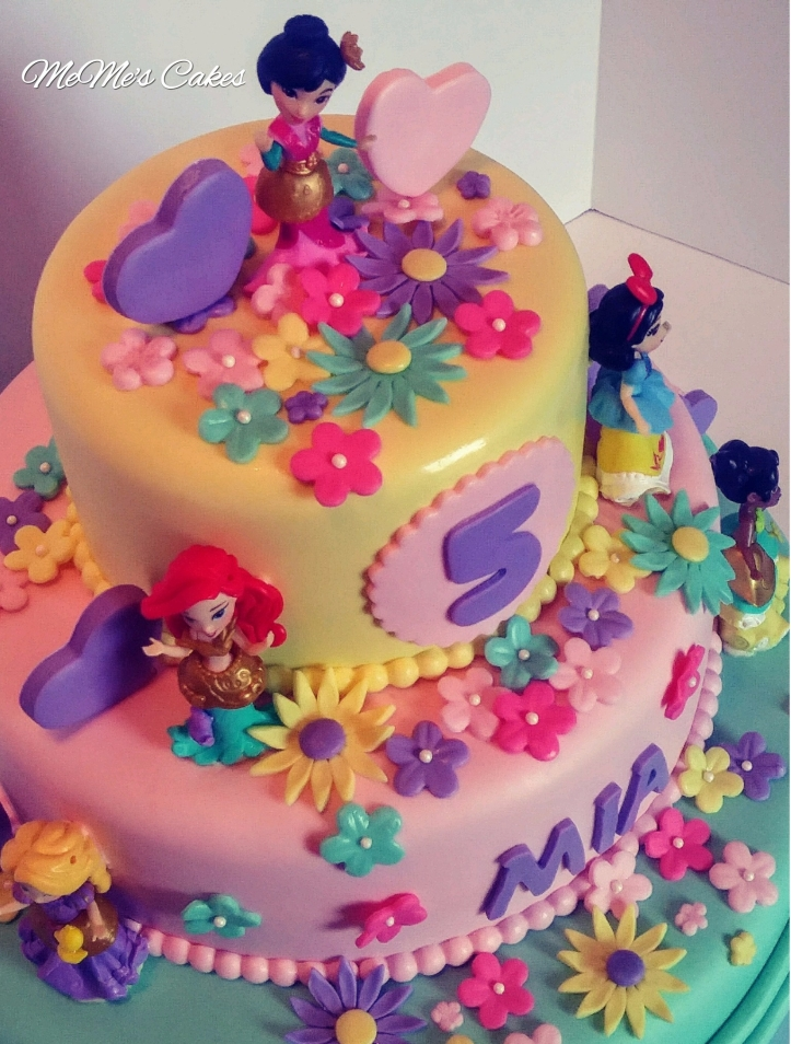 Bright and colorful Princess Cake.
