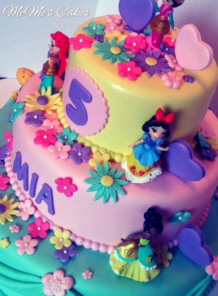 Bright colored Princess Cake.