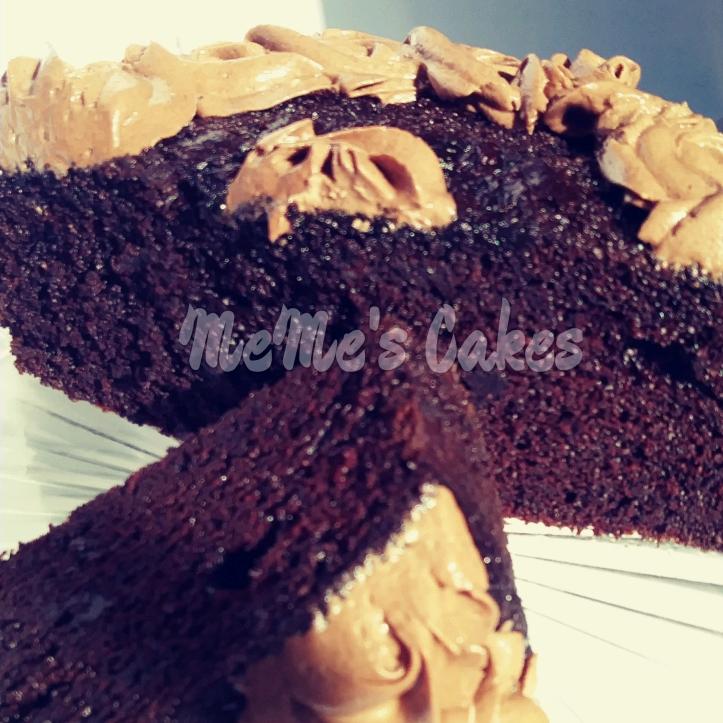 rich, dark, and moist chocolate cake