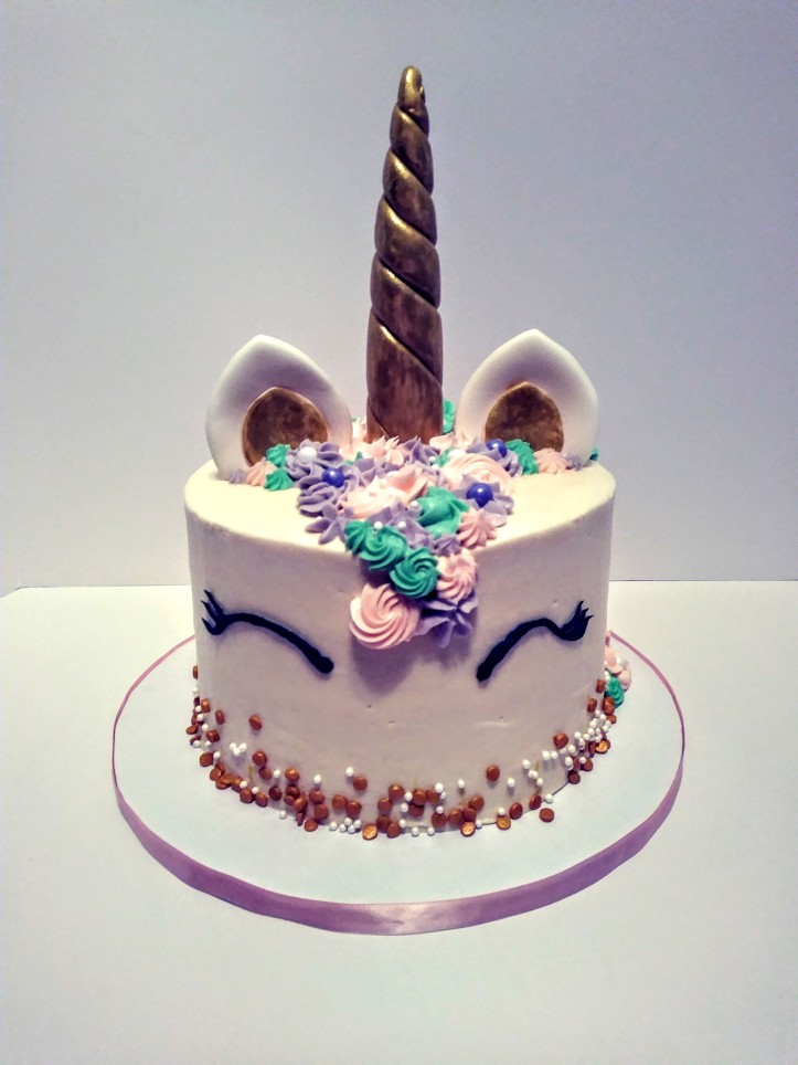 Unicorn themed cake design