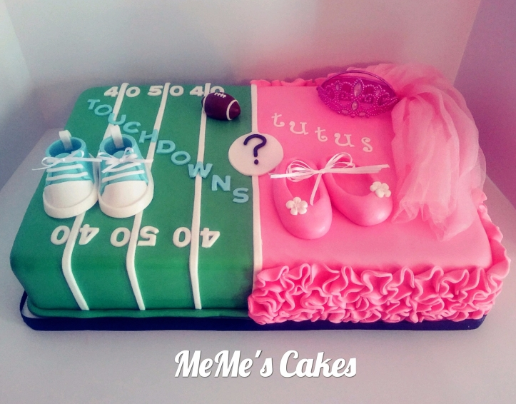 Touchdowns or Tutus? Gender Reveal Cake